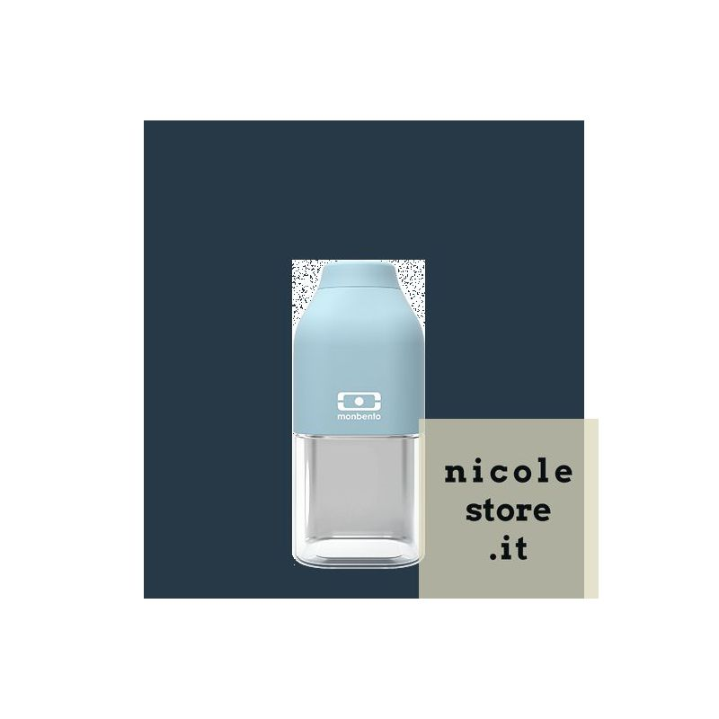 MB Positive S blue Iceberg reusable Tritan bottle by Monbento