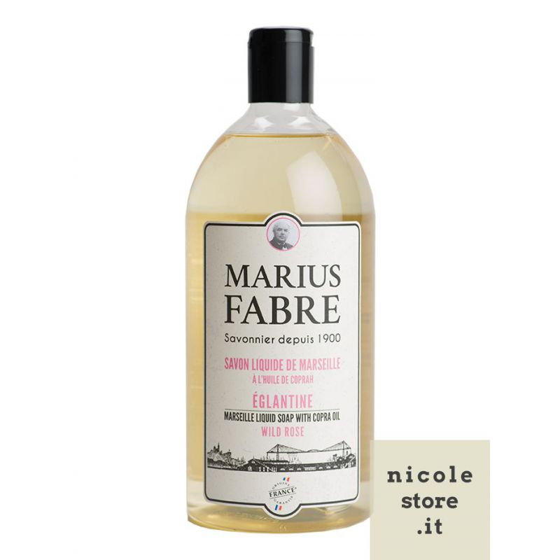 Marseille liquid soap Wild Rose flavoured (1L) 1900 by Marius Fabre
