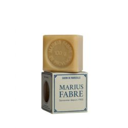 100 gr Cubic Natural Marseille soap for laundry use by Marius Fabre