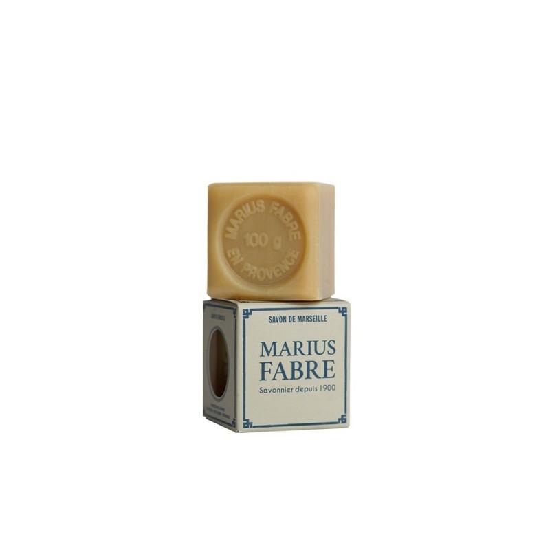 Sapone di Marsiglia extra puro 72%  agli Oli Vegetali in Cubo da 100 gr  NATURE by  Marius Fabre