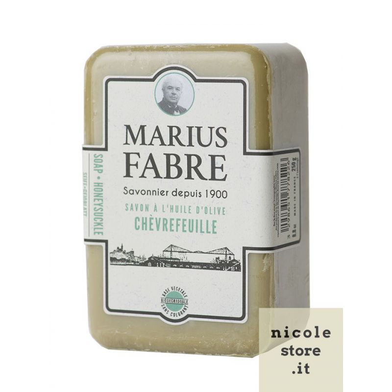Marseille Honeysuckle perfumed pure olive oil soap (250gr) 1900 by Marius Fabre