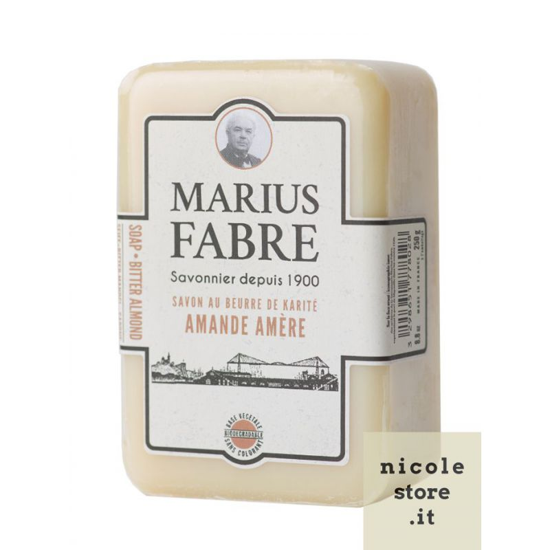 Bitter Almond perfumed pure Karité Butter oil soap (250gr) 1900 by Marius Fabre