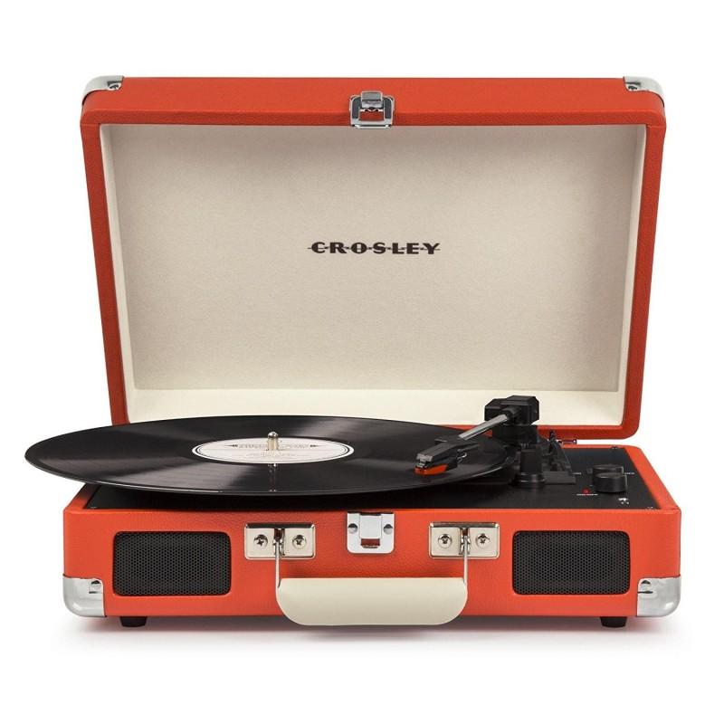 Crosley Cruiser Deluxe Orange Giradischi Bluetooth Portatile Stereo  by Crosley