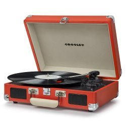 Crosley Cruiser Deluxe Orange Giradischi Bluetooth Portatile Stereo  by Crosley
