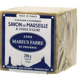 200gr Cube Extra Pure Marseille Vegetal Olive Oil Soap 72% By Marius Fabre