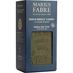 1Kg Slice Extra Pure Marseille Vegetal Olive Oil Soap 72% By Marius Fabre