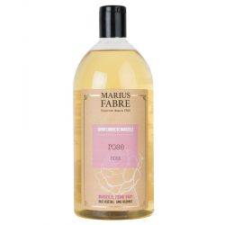 Marseille liquid soap Rose flavoured (1L) Le Bien-être by Marius Fabre