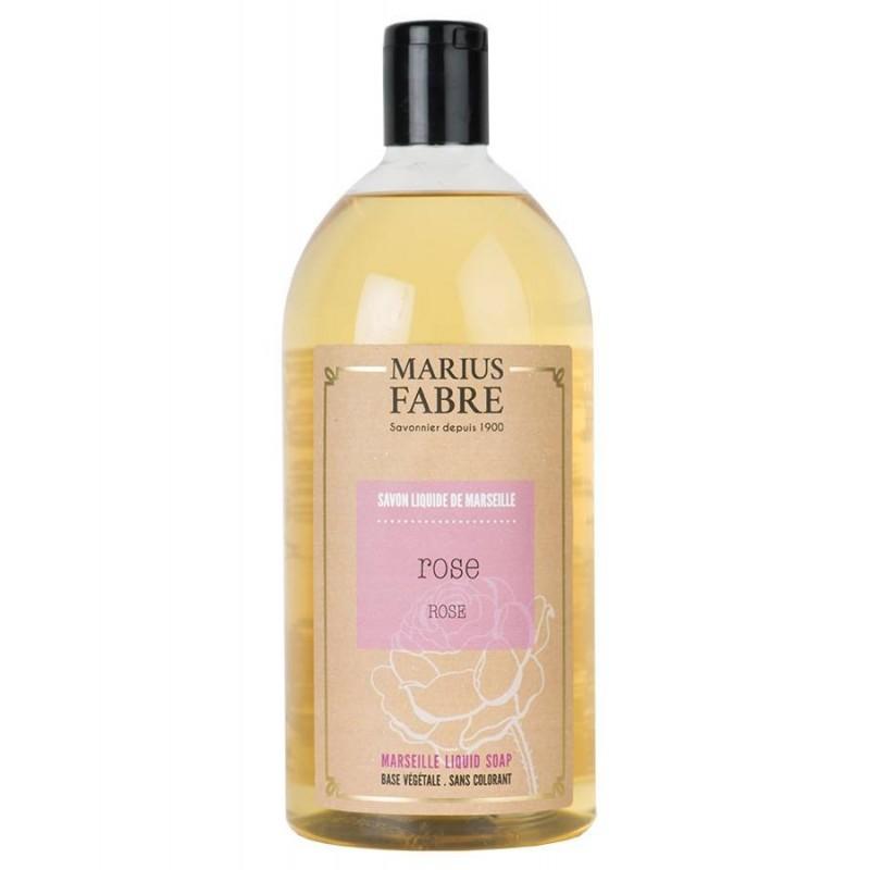 Marseille liquid soap Rose flavoured (1L) Le Bien-être by Marius Fabre