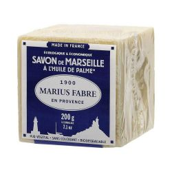 200gr Cubic Natural Marseille soap for laundry use by Marius Fabre