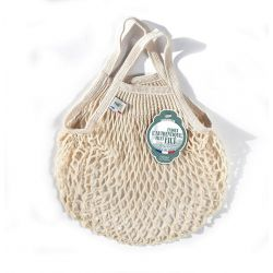 Organic Cotton Ecru net / mesh  Mini Bag by Filt