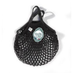 Organic Cotton Black net / mesh  Mini Bag by Filt