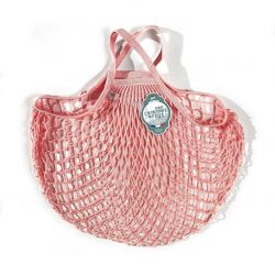Organic Cotton Baby Rose net / mesh Hand Shopping Bag by Filt