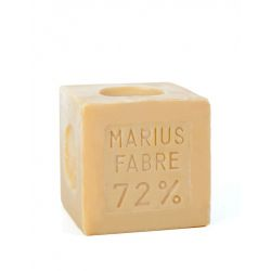 400gr Cubic Natural Marseille soap for laundry use by Marius Fabre