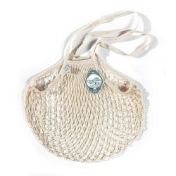 Organic Cotton Ecru net / mesh Shoulder Shopping Bag by Filt