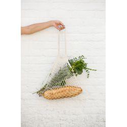 Organic Cotton Ecru net / mesh Shoulder Shopping Bag by Filt