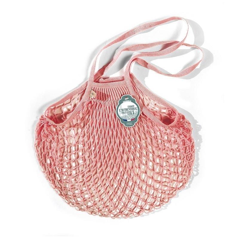 Organic Cotton Baby Rose net / mesh Shoulder Shopping Bag by Filt