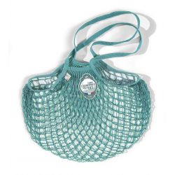 Organic Cotton Aquablue net / mesh Shoulder Shopping Bag by Filt