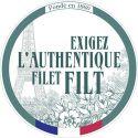 Borsa spalla a rete Blu Acqua in cotone biologico by Filt