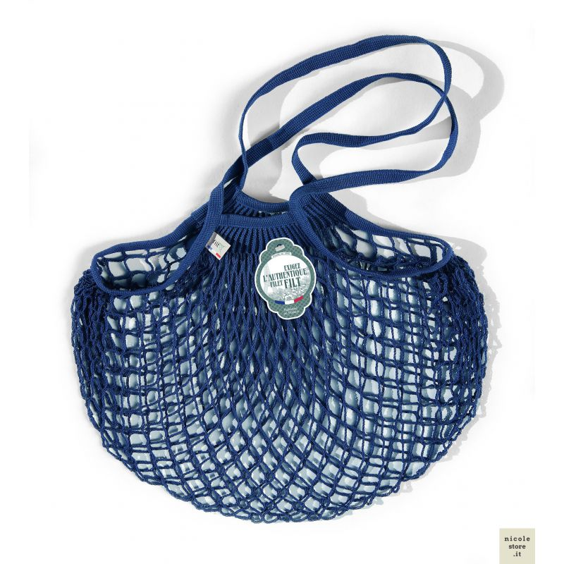 Organic Cotton Blue net / mesh Shoulder Shopping Bag by Filt