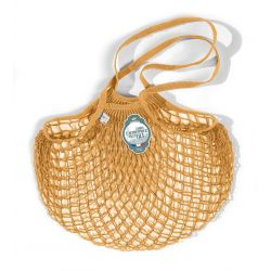 Organic Cotton Golden Yellow  net / mesh Shoulder Shopping Bag by Filt