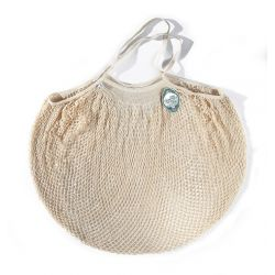 Organic Cotton Ecru net / mesh Large Shoulder Shopping Bag by Filt