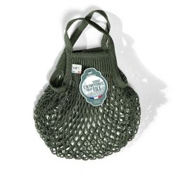 Organic Cotton Kaki net / mesh  Mini Bag by Filt
