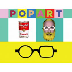 Pop Art Donald Flex Reading Glass by Aptica