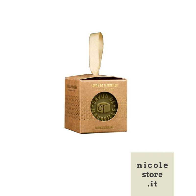 Marseille soap with Olive Oil limited edition Christmas 100gr NATURE by Marius Fabre