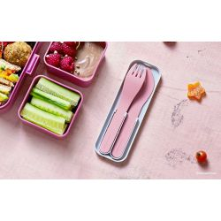 MB Pocket color pink Blush biodegradable portable cutlery by Monbento