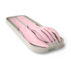 MB Pocket color rosa Litchi posate portatili biodegradabili di Monbento