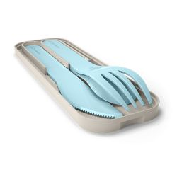 MB Pocket color blue Iceberg biodegradable portable cutlery by Monbento