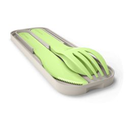 MB Pocket color green Apple biodegradable portable cutlery by Monbento