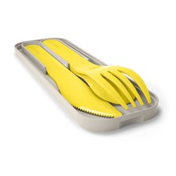 MB Pocket color yellow Lemon biodegradable portable cutlery by Monbento