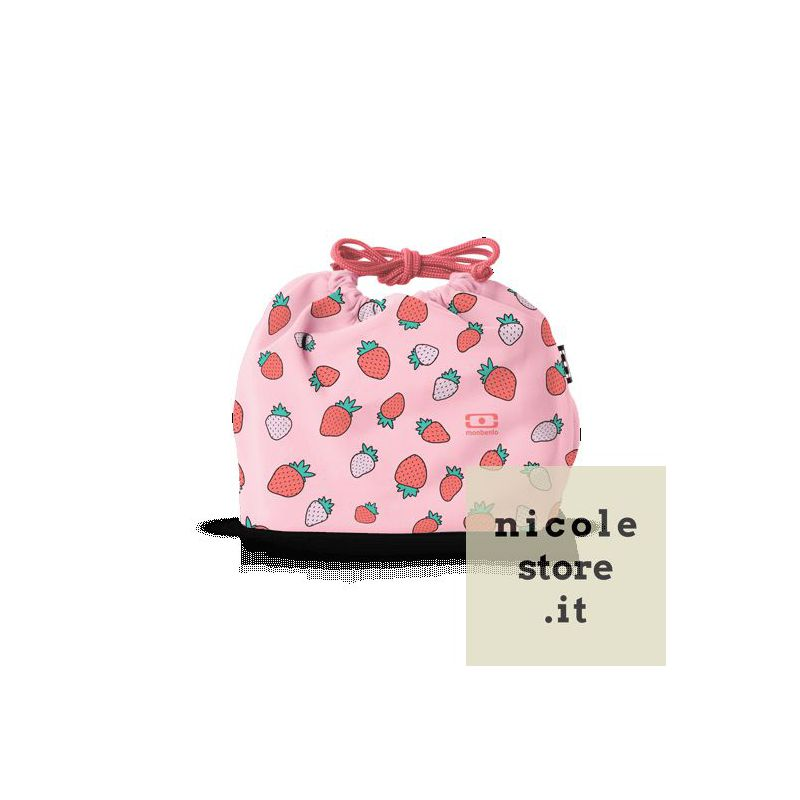MB Pochette graphic Strawberry lunchbox sleeve bag for Monbento