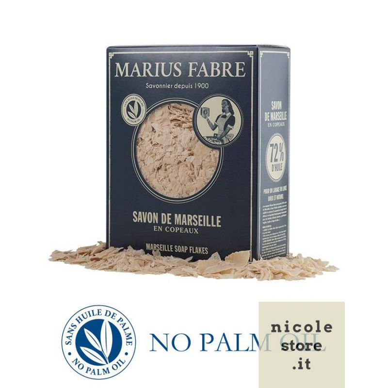 Pure Marseille soap in flakes 750 gr Nature by Marius Fabre