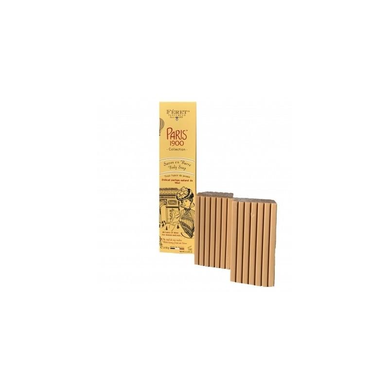 Honey body soap en barre Paris 1900 collection by Féret Parfumeur