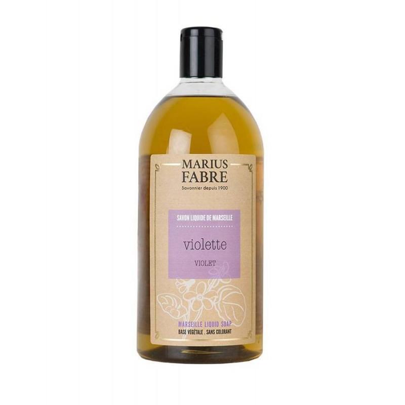 Marseille liquid soap Violet flavoured (1L) Le Bien-être by Marius Fabre