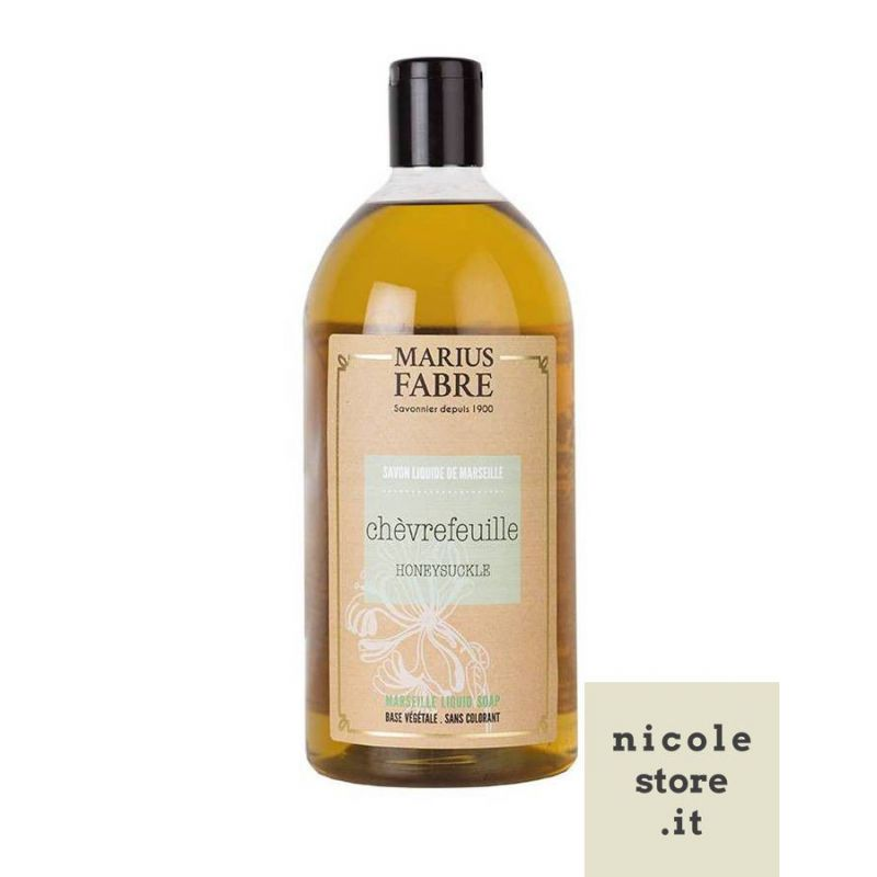 Marseille liquid soap Honeysuckle flavoured (1L) Le Bien-être by Marius Fabre