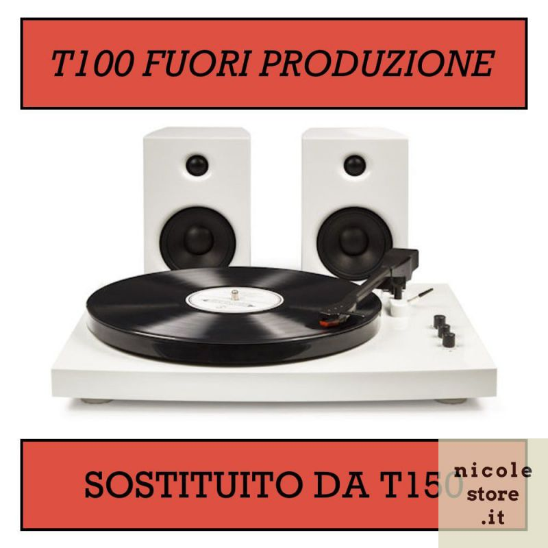 Crosley T100 White - piatto giradischi bluetooth con amplificatori by Crosley