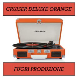 Crosley Cruiser Deluxe Orange Stereo Bluetooth Portable Turntable  by Crosley