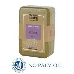 Marseille violet perfumed pure olive oil soap (250gr) Le Bien-être by Marius Fabre