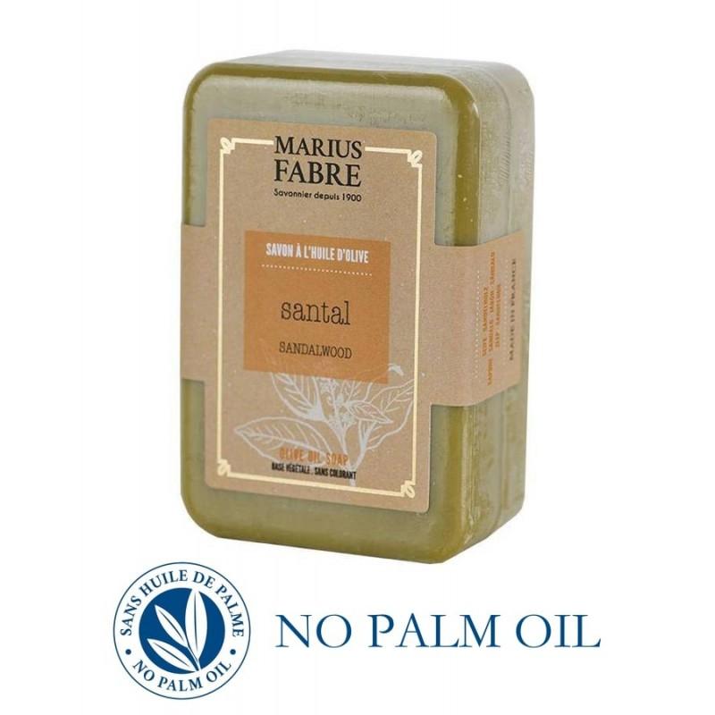 Marseille sandalwood perfumed pure olive oil soap (250gr) Le Bien-être by Marius Fabre