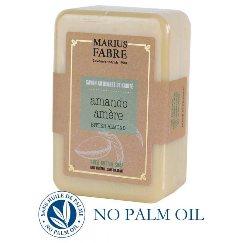 Bitter Almond perfumed pure Karité Butter oil soap (250gr) Le Bien Etre by Marius Fabre