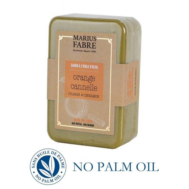 Marseille Orange Zest and Cinnamon perfumed pure olive oil soap (250gr) Le Bien Etre by Marius Fabre
