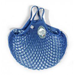 Borsa a rete Blu Matisse in cotone biologico by Filt