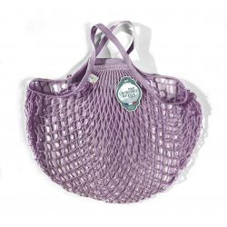 Organic Cotton Thé à la rose net / mesh Hand Shopping Bag by Filt