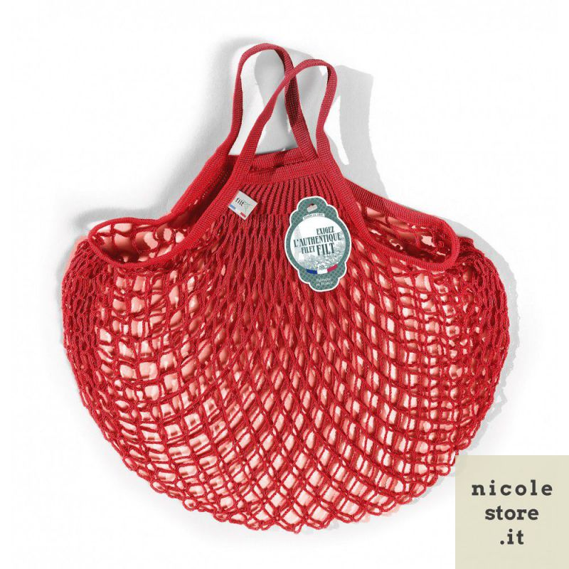 Borsa a rete Rouge anémone in cotone biologico by Filt