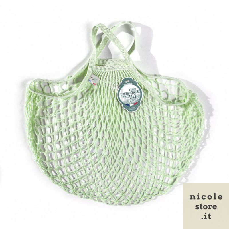 Organic Cotton Elixir net / mesh Hand Shopping Bag by Filt