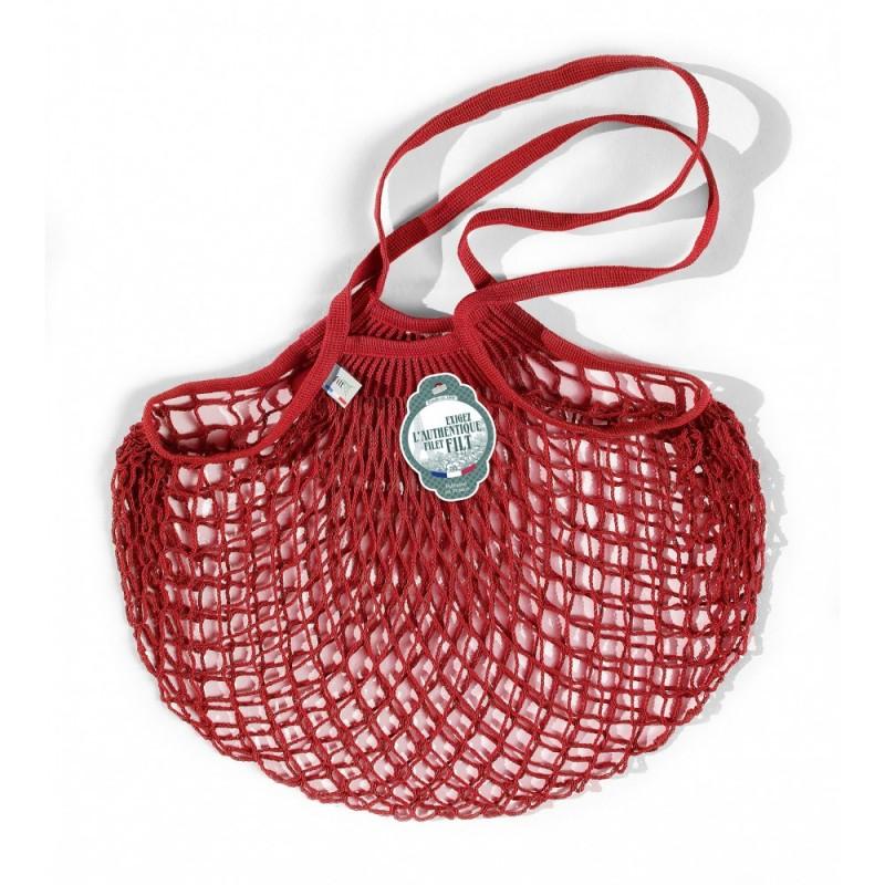 Organic Cotton Red net / mesh Shoulder Shopping Bag by Filt
