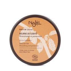Organic cacao scented shea butter 200ml - Beurre de Karité Parfum vanille - Najel
